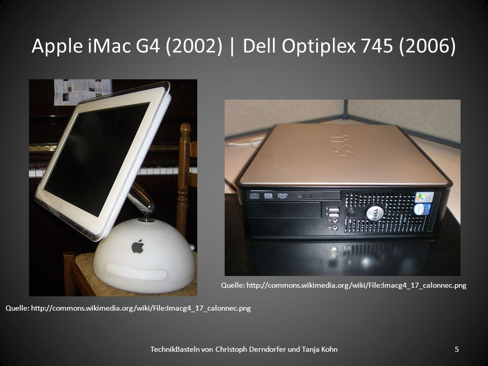 Apple iMac G4 (2002) | Dell Optiplex 745 (2006)