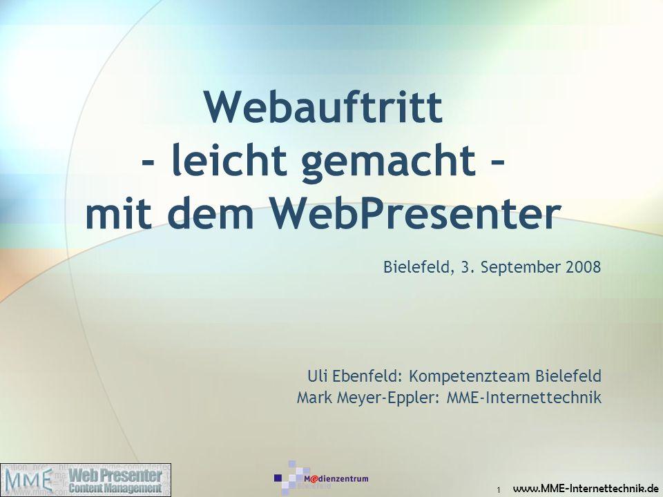 Webauftritt - leicht gemacht – mit dem WebPresenter
