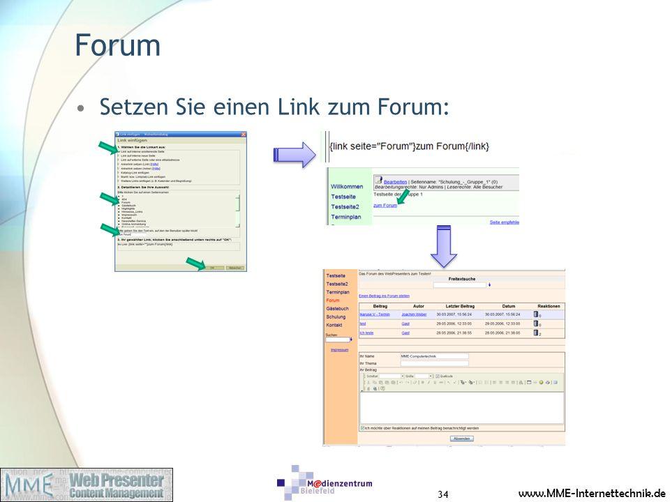 Forum Setzen Sie einen Link zum Forum: