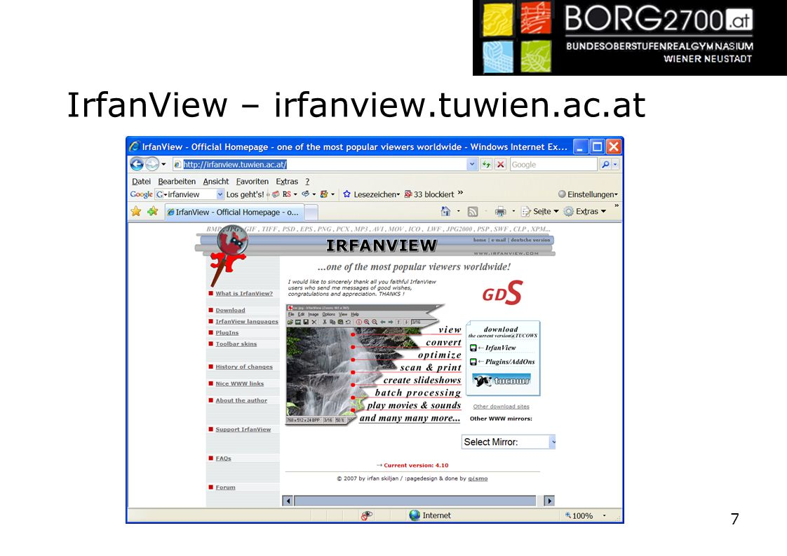 IrfanView – irfanview.tuwien.ac.at