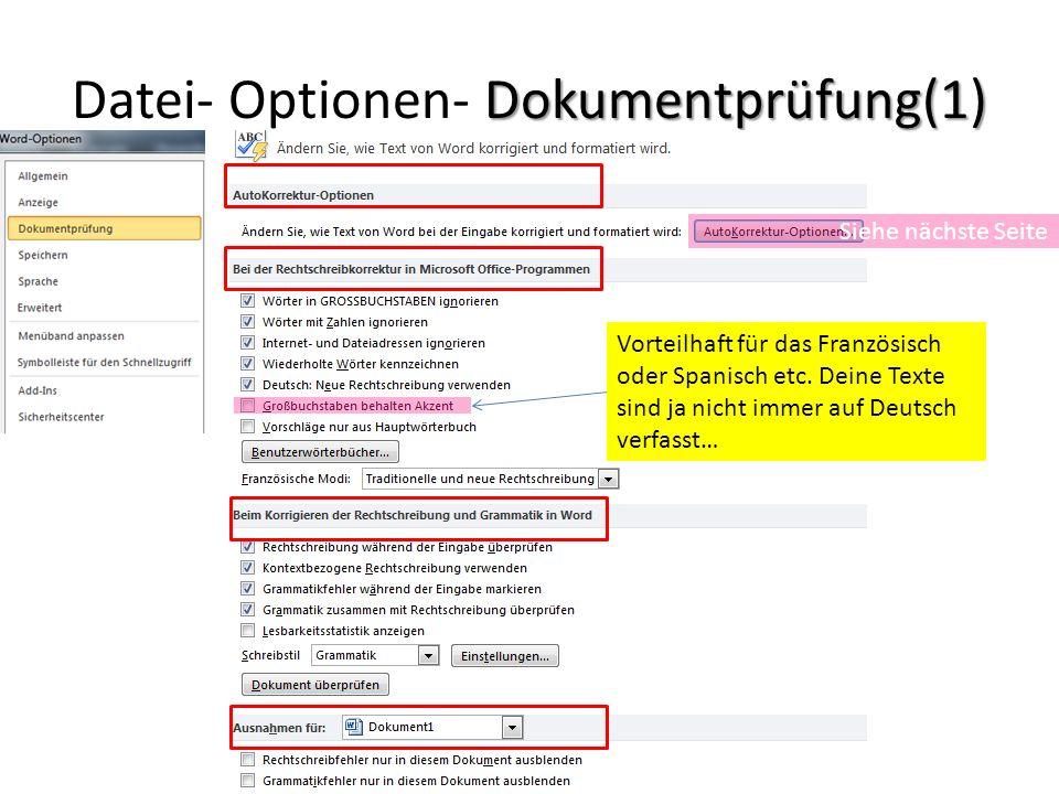 Datei- Optionen- Dokumentprüfung(1)