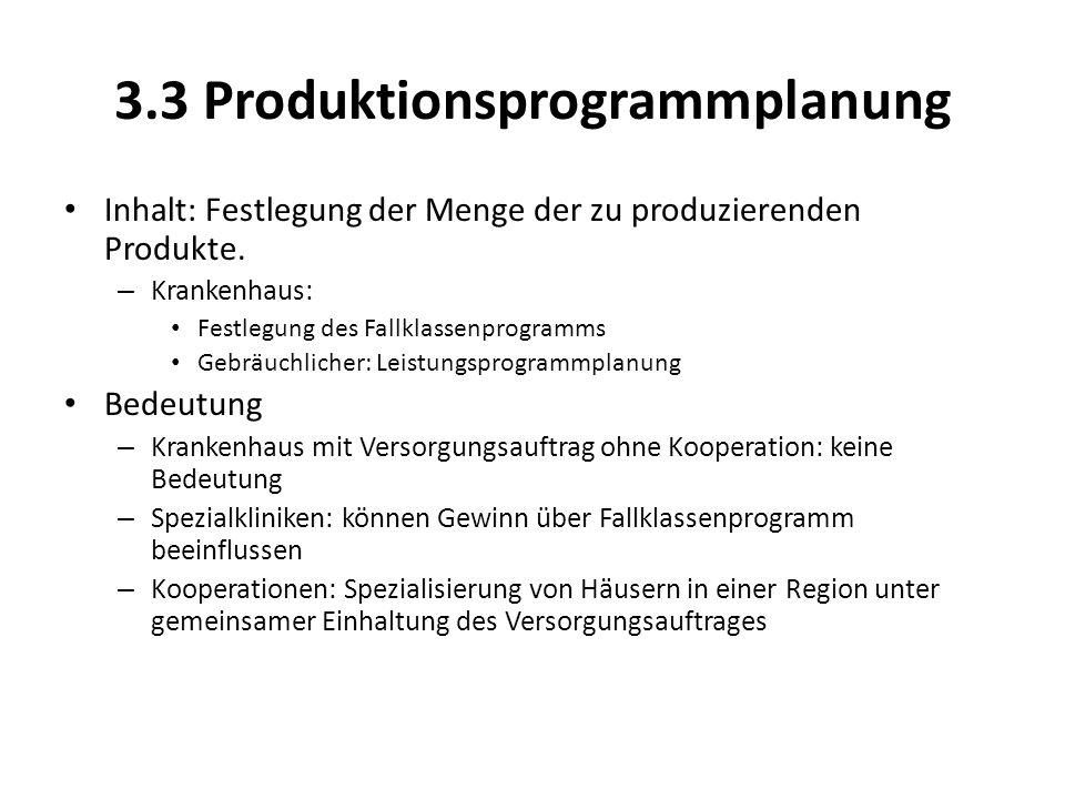 3.3 Produktionsprogrammplanung