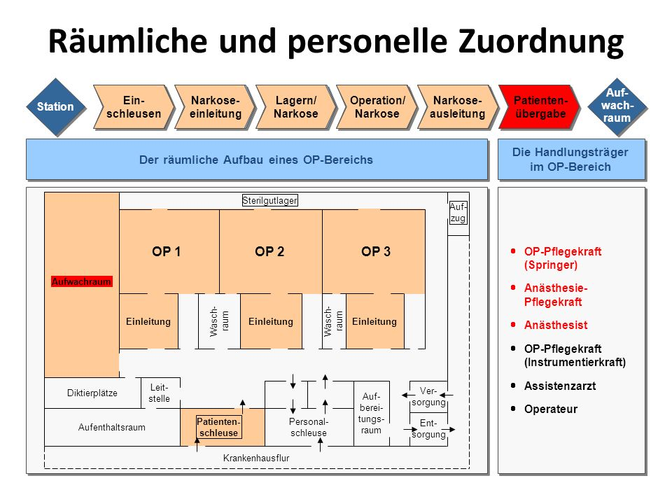 Räumliche und personelle Zuordnung