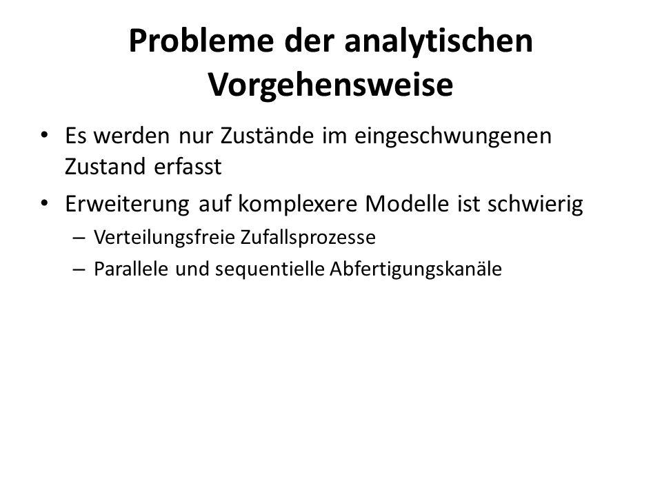 Probleme der analytischen Vorgehensweise