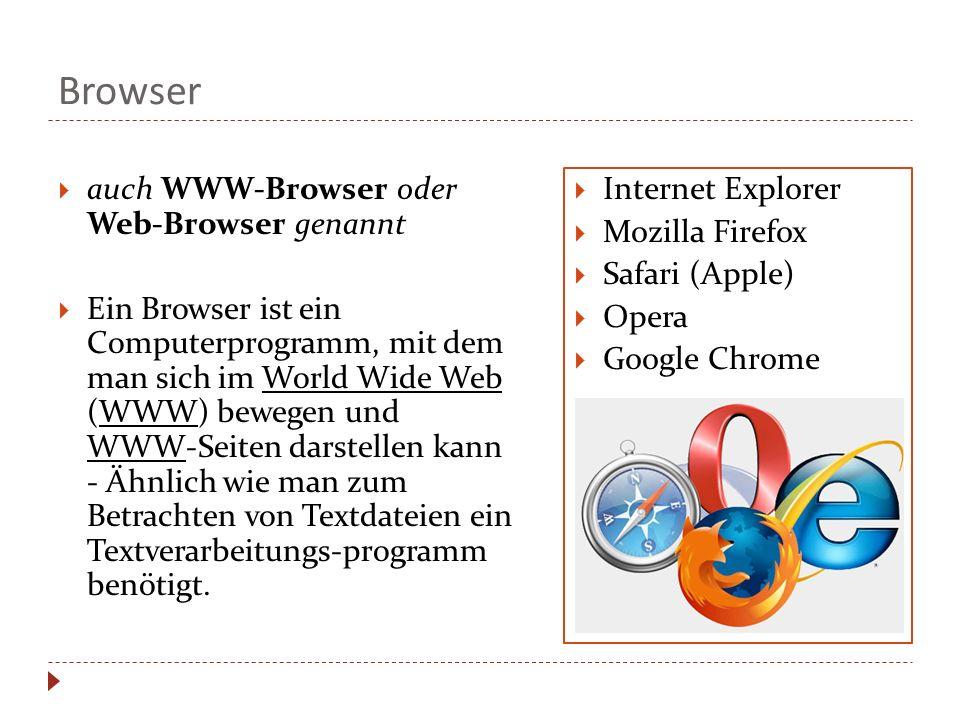 Browser auch WWW-Browser oder Web-Browser genannt