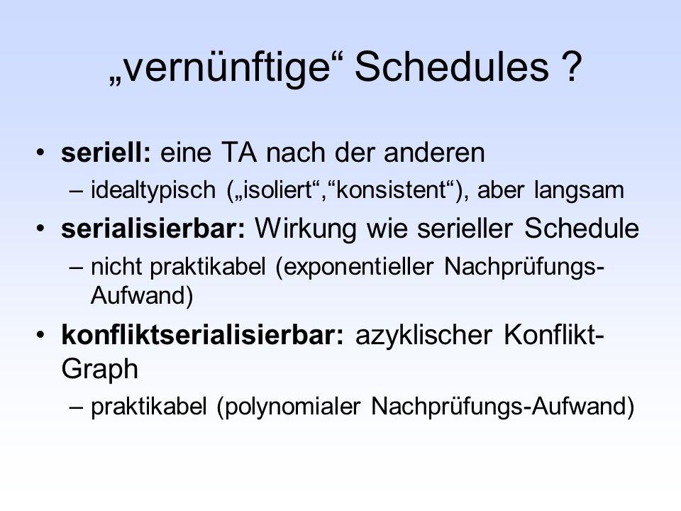 """vernünftige Schedules"
