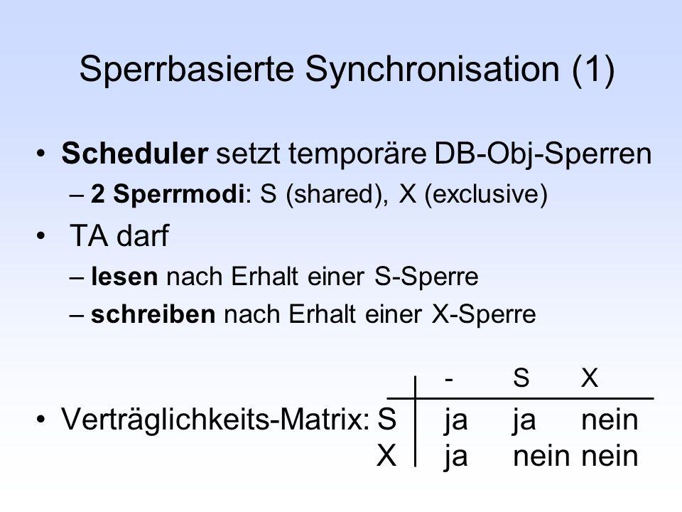 Sperrbasierte Synchronisation (1)