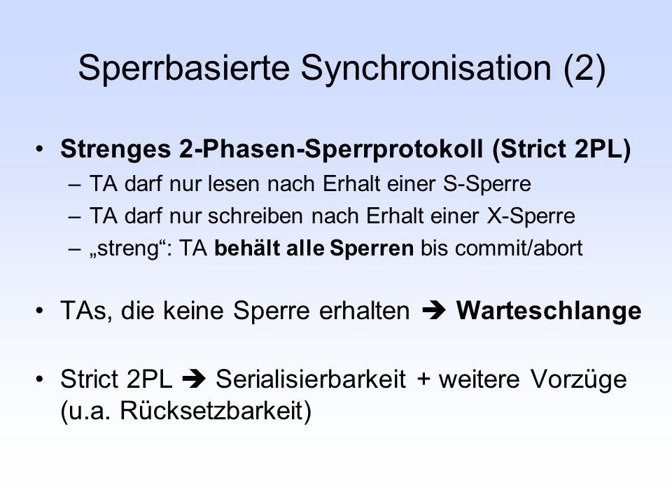 Sperrbasierte Synchronisation (2)