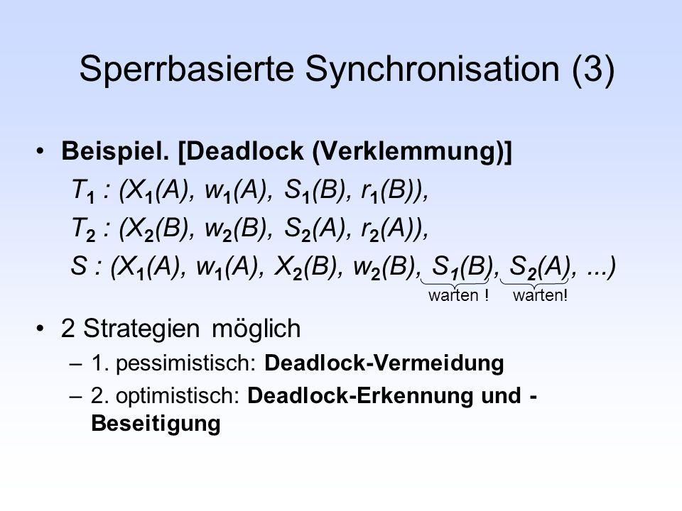 Sperrbasierte Synchronisation (3)