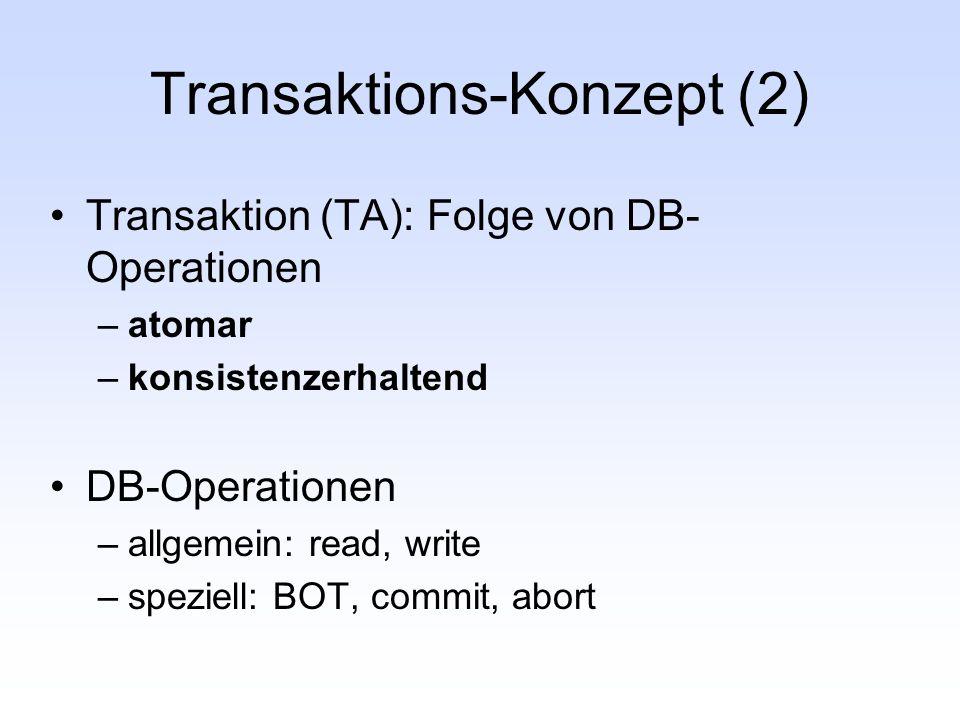 Transaktions-Konzept (2)