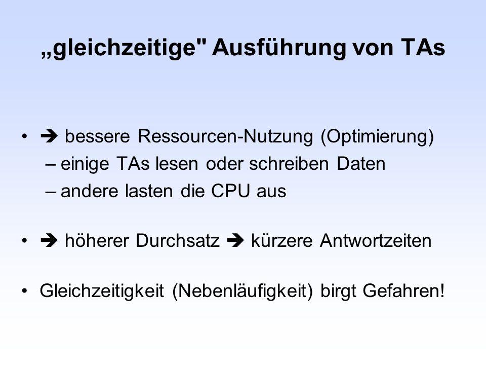"""""""gleichzeitige Ausführung von TAs"""
