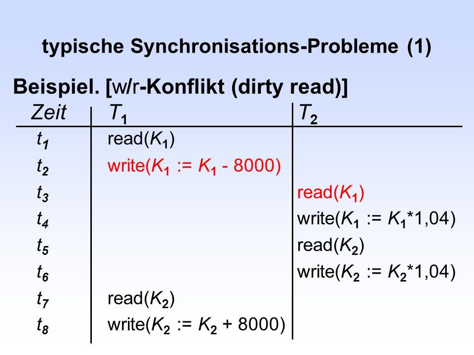 typische Synchronisations-Probleme (1)