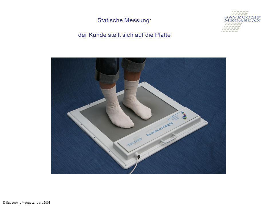 Statische Messung: der Kunde stellt sich auf die Platte