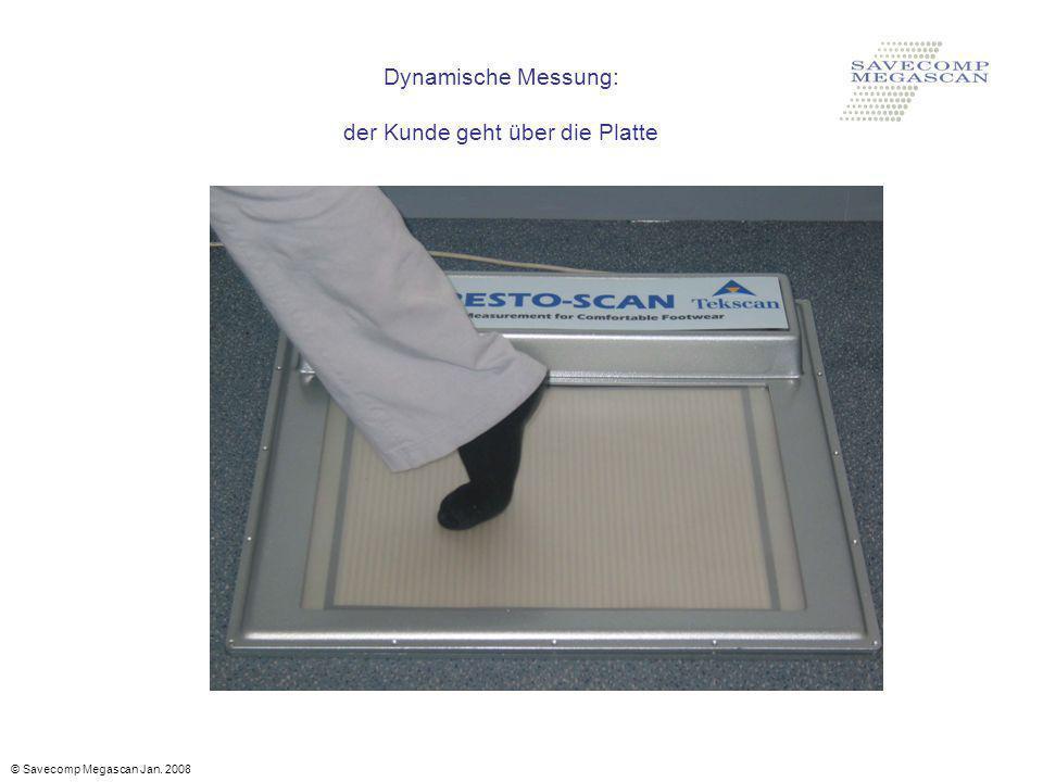 Dynamische Messung: der Kunde geht über die Platte