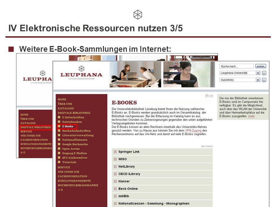 IV Elektronische Ressourcen nutzen 3/5
