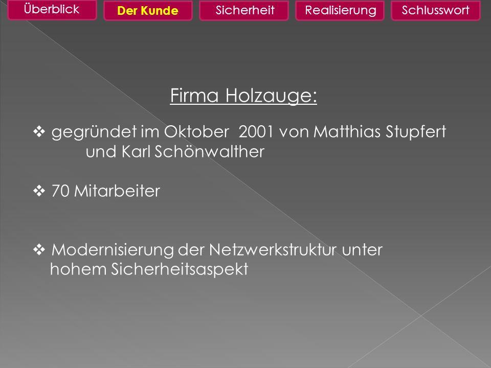 Firma Holzauge: gegründet im Oktober 2001 von Matthias Stupfert