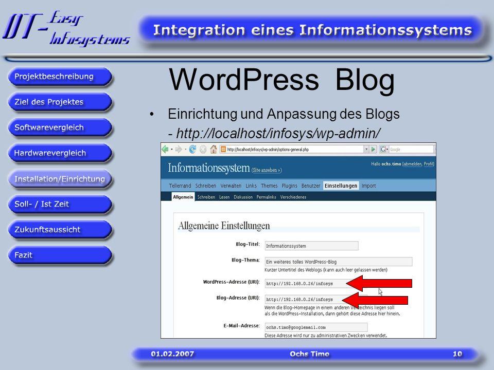 WordPress Blog Einrichtung und Anpassung des Blogs
