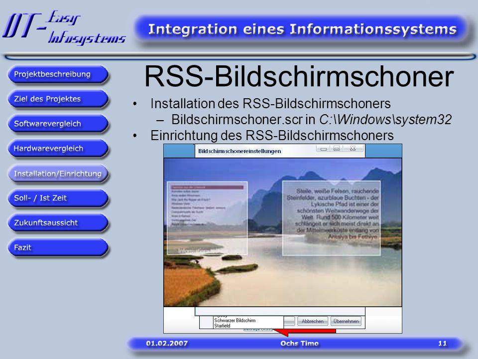 RSS-Bildschirmschoner