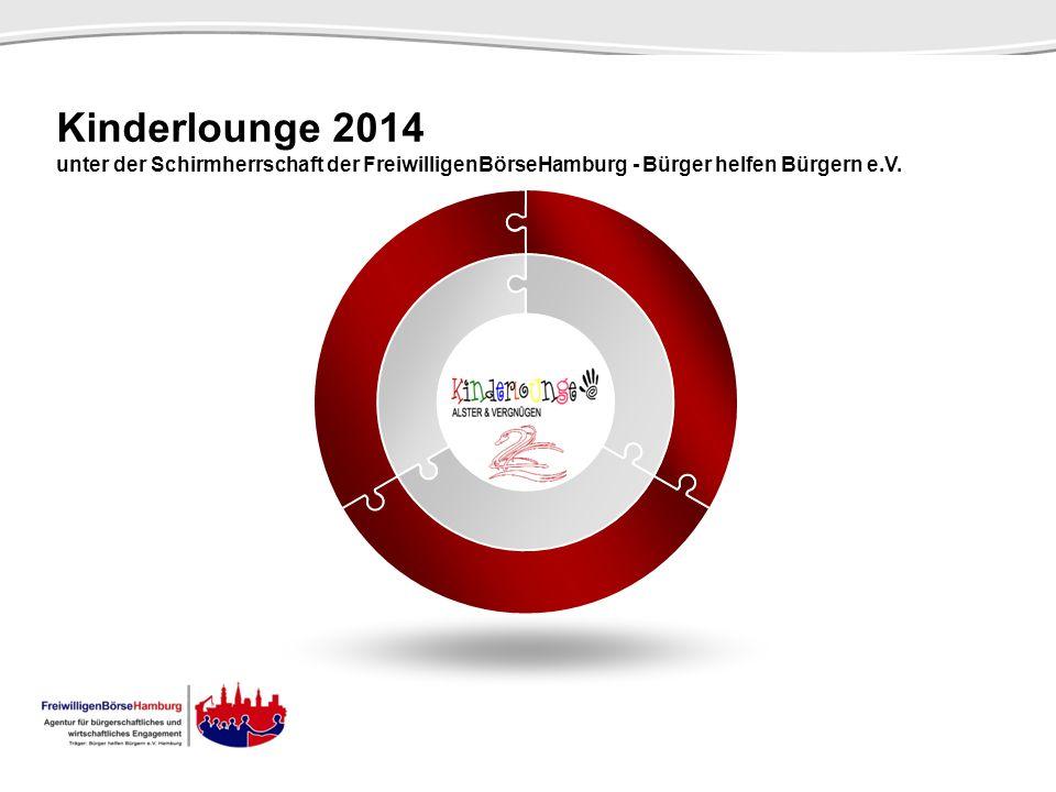 SCENE Kinderlounge 2014. unter der Schirmherrschaft der FreiwilligenBörseHamburg - Bürger helfen Bürgern e.V.