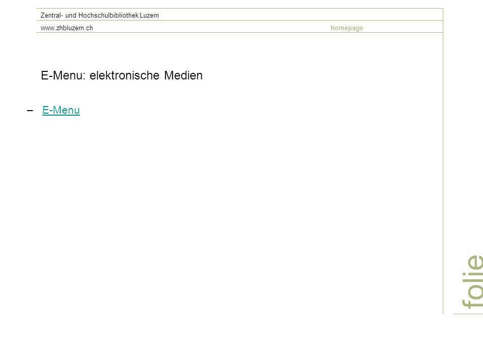 E-Menu: elektronische Medien