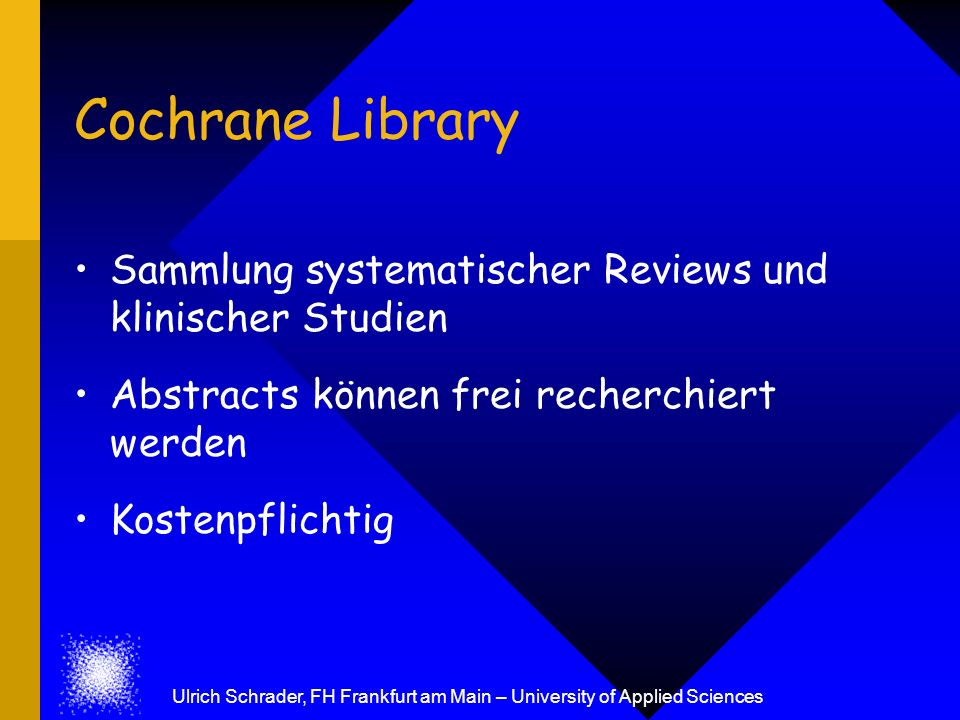 Ulrich Schrader, FH Frankfurt am Main – University of Applied Sciences
