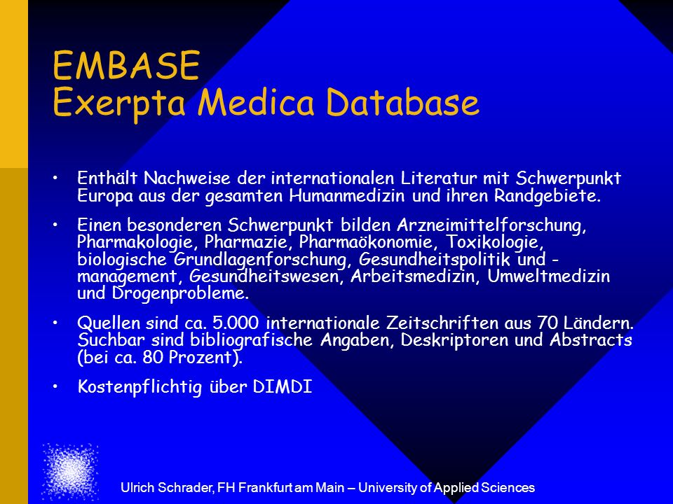 EMBASE Exerpta Medica Database