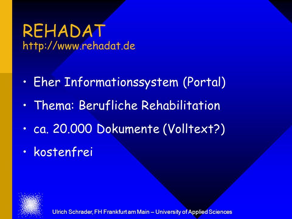 REHADAT http://www.rehadat.de