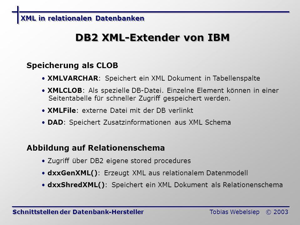 DB2 XML-Extender von IBM