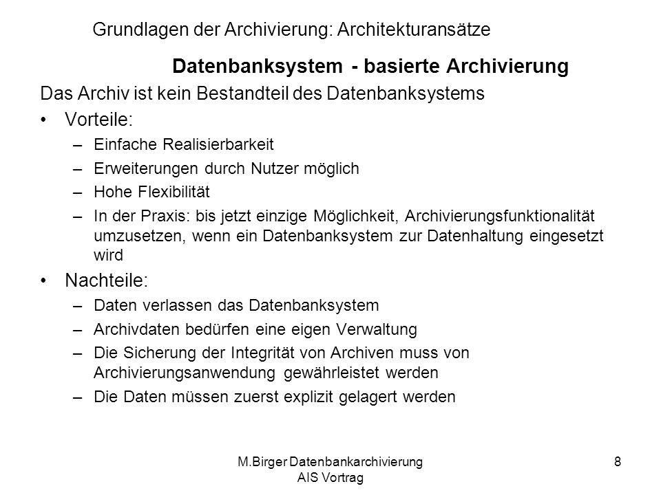 Grundlagen der Archivierung: Architekturansätze