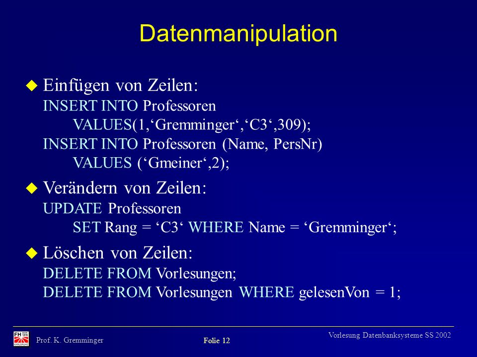 Datenmanipulation