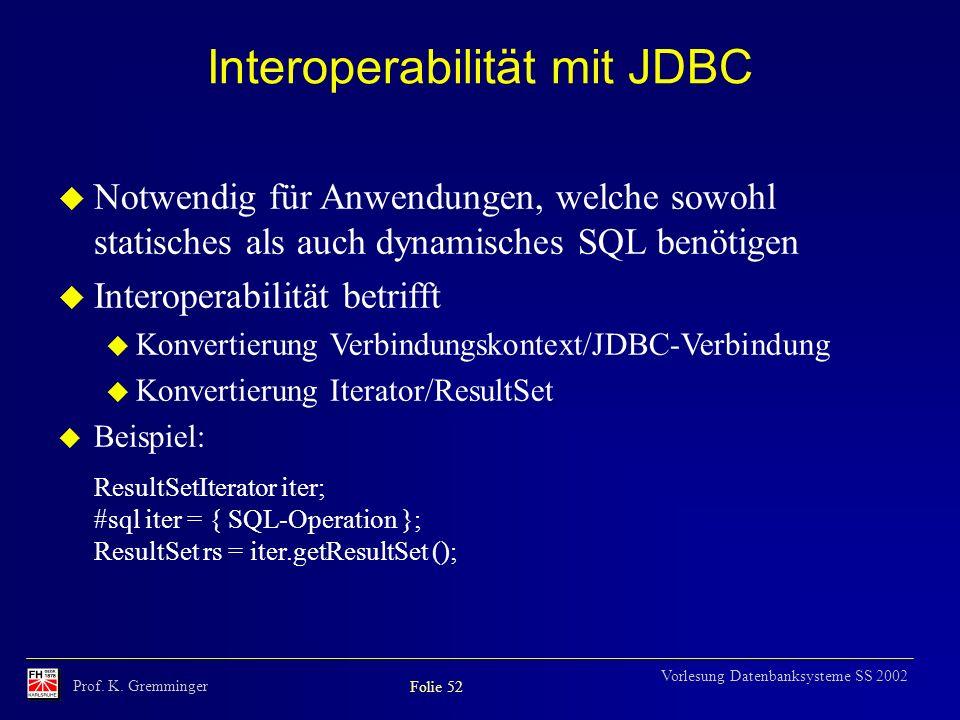 Interoperabilität mit JDBC