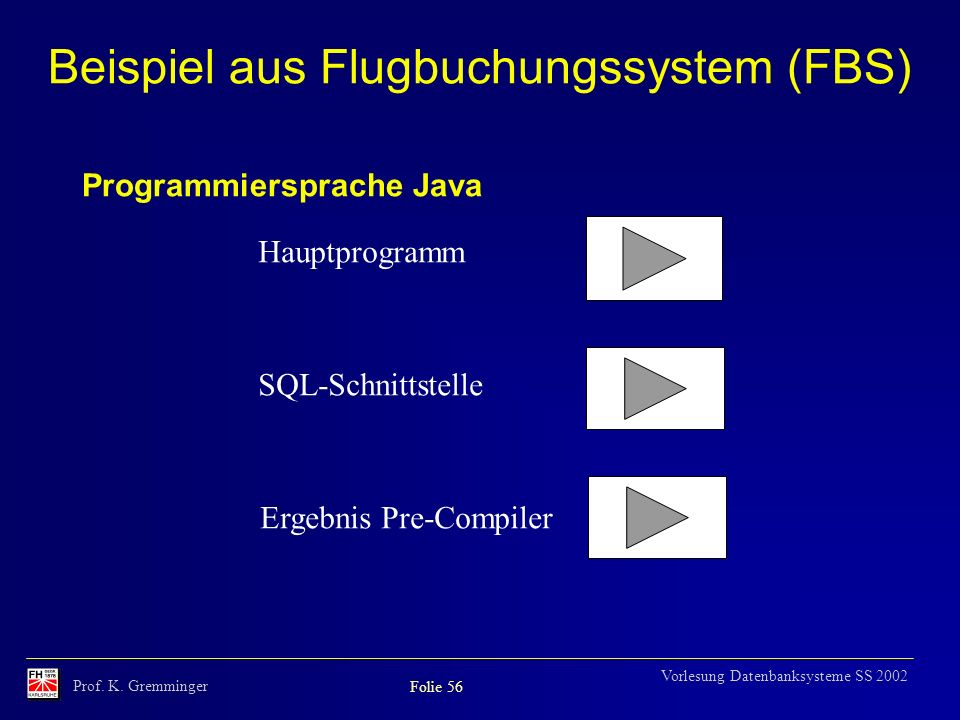 Beispiel aus Flugbuchungssystem (FBS)