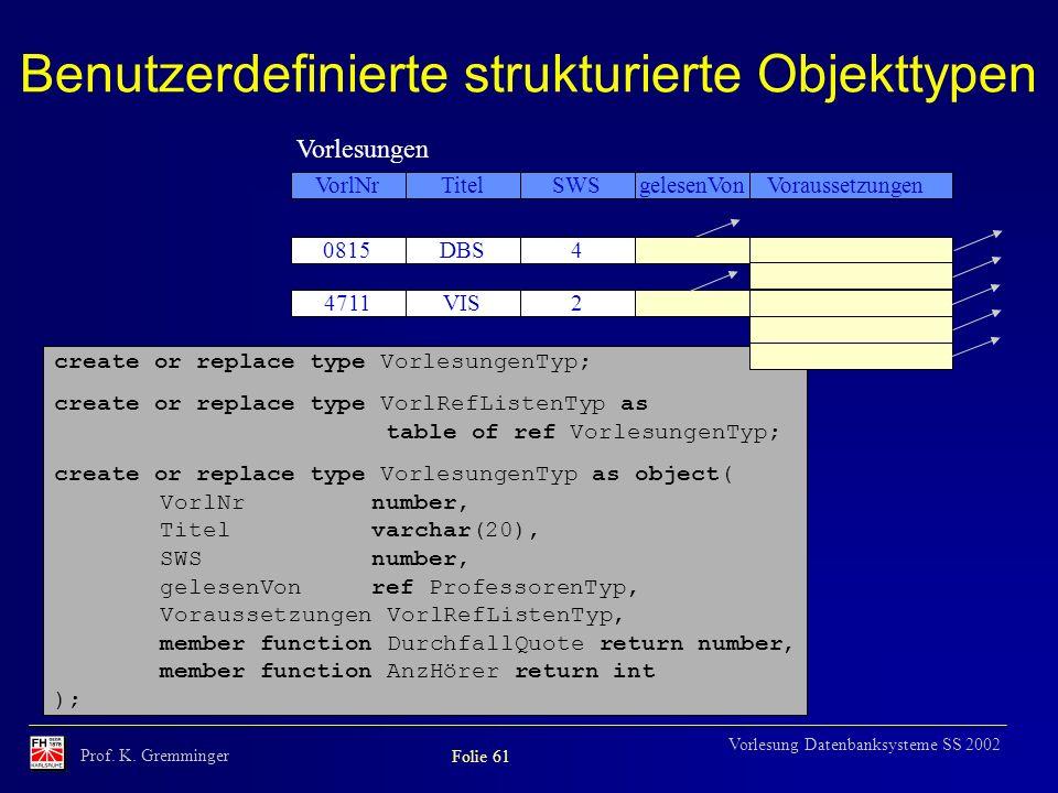 Benutzerdefinierte strukturierte Objekttypen