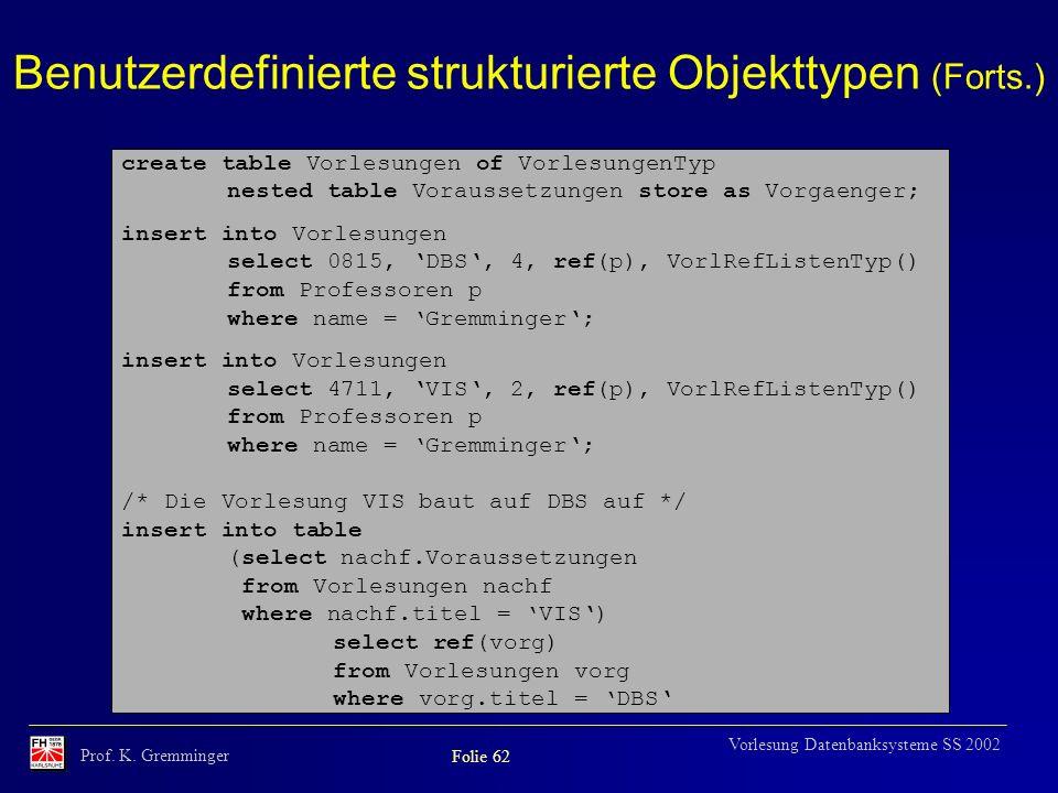 Benutzerdefinierte strukturierte Objekttypen (Forts.)