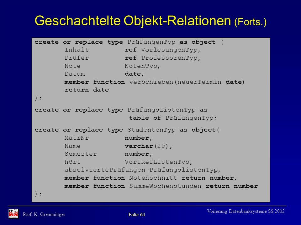 Geschachtelte Objekt-Relationen (Forts.)