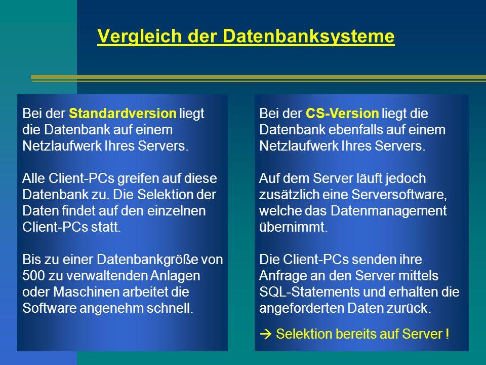 Vergleich der Datenbanksysteme