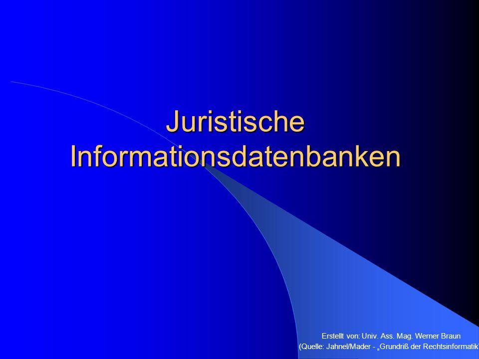 Juristische Informationsdatenbanken
