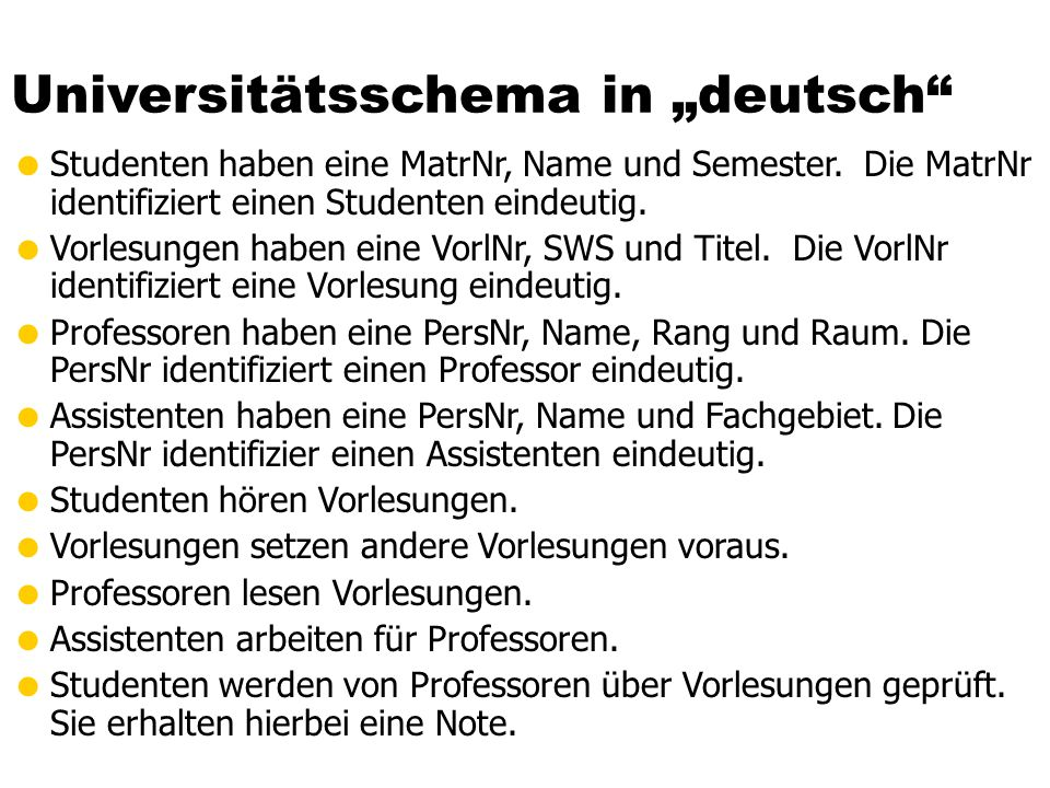 "Universitätsschema in ""deutsch"