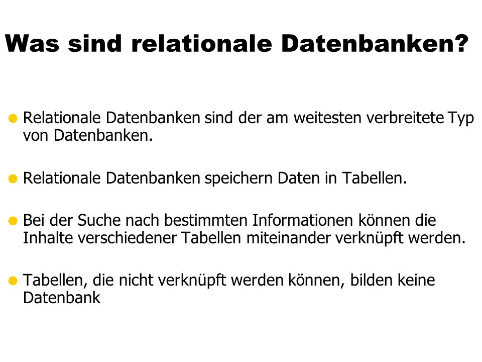 Was sind relationale Datenbanken