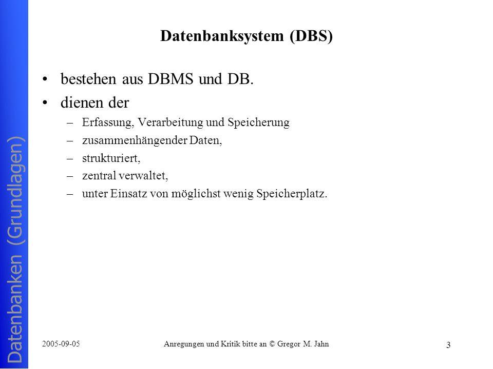 Datenbanksystem (DBS)