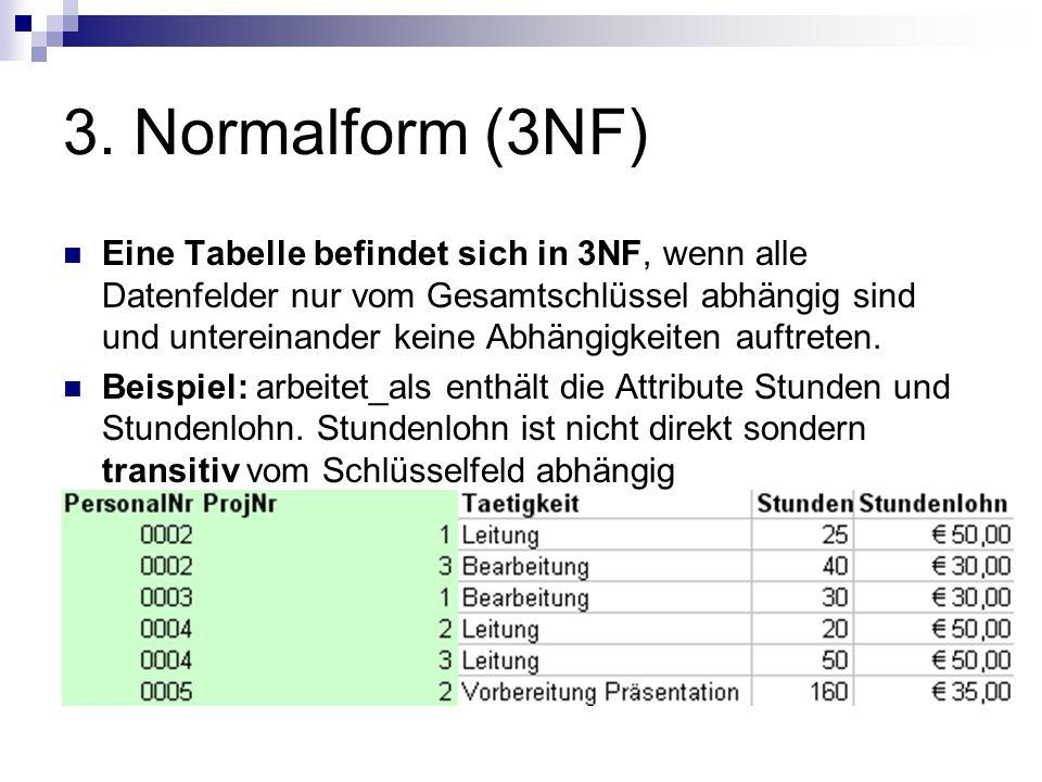 3. Normalform (3NF)