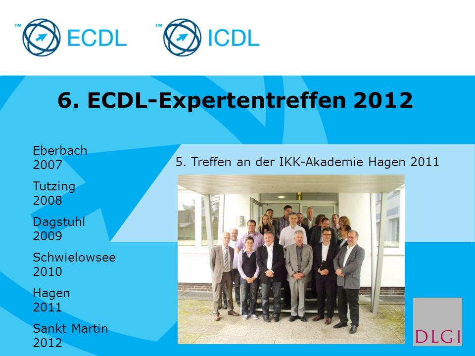 6. ECDL-Expertentreffen 2012