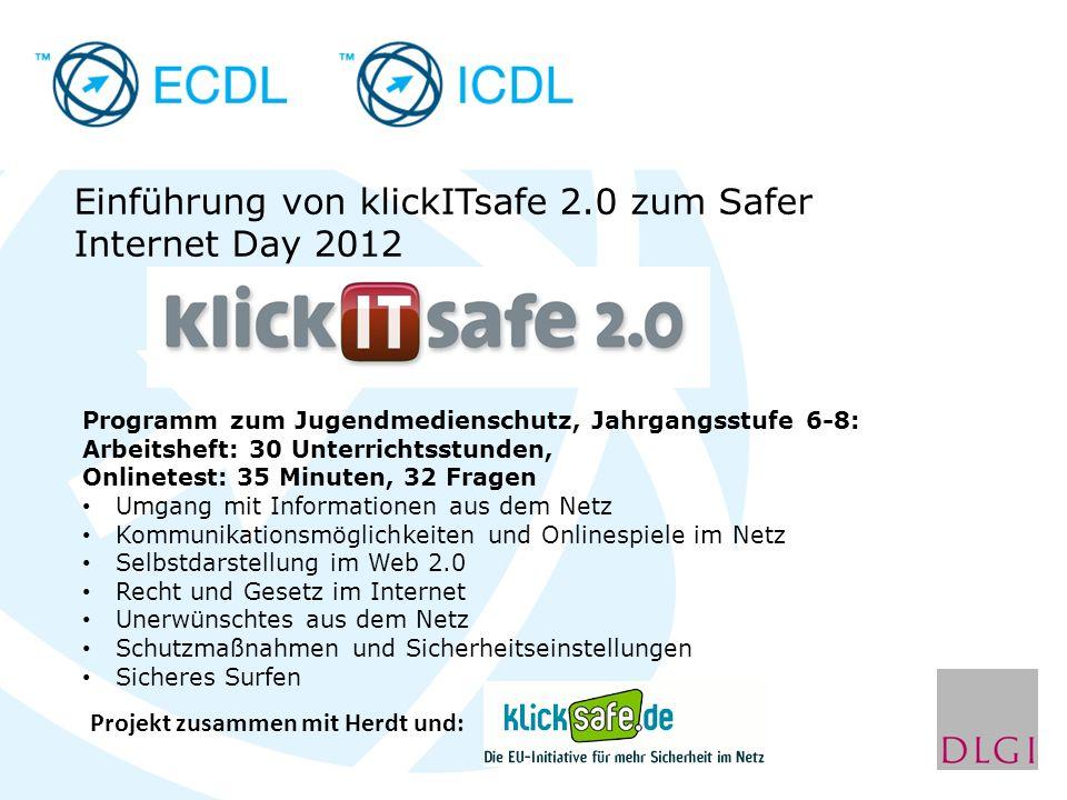 Einführung von klickITsafe 2.0 zum Safer Internet Day 2012