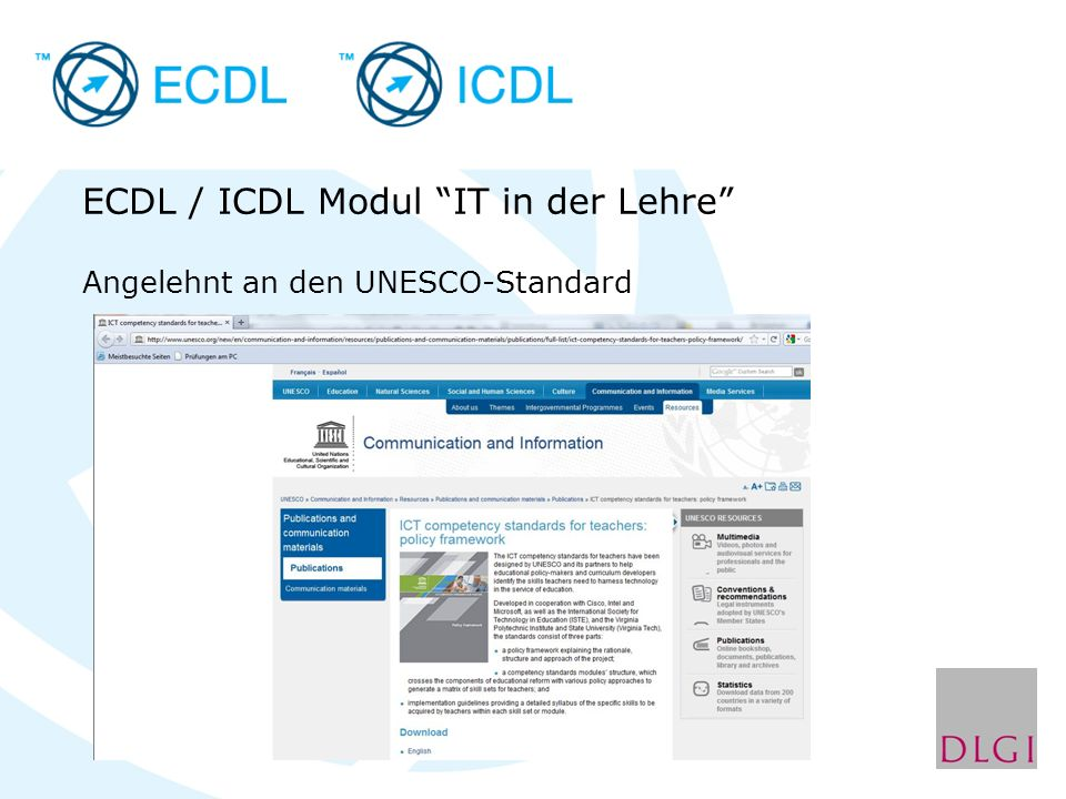ECDL / ICDL Modul IT in der Lehre