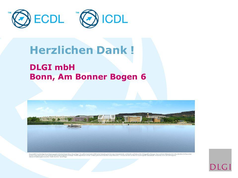 Herzlichen Dank ! DLGI mbH Bonn, Am Bonner Bogen 6