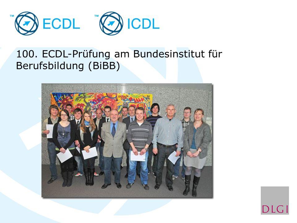 100. ECDL-Prüfung am Bundesinstitut für Berufsbildung (BiBB)