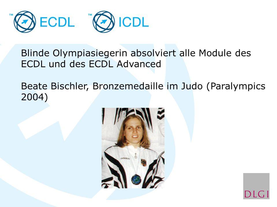 Beate Bischler, Bronzemedaille im Judo (Paralympics 2004)