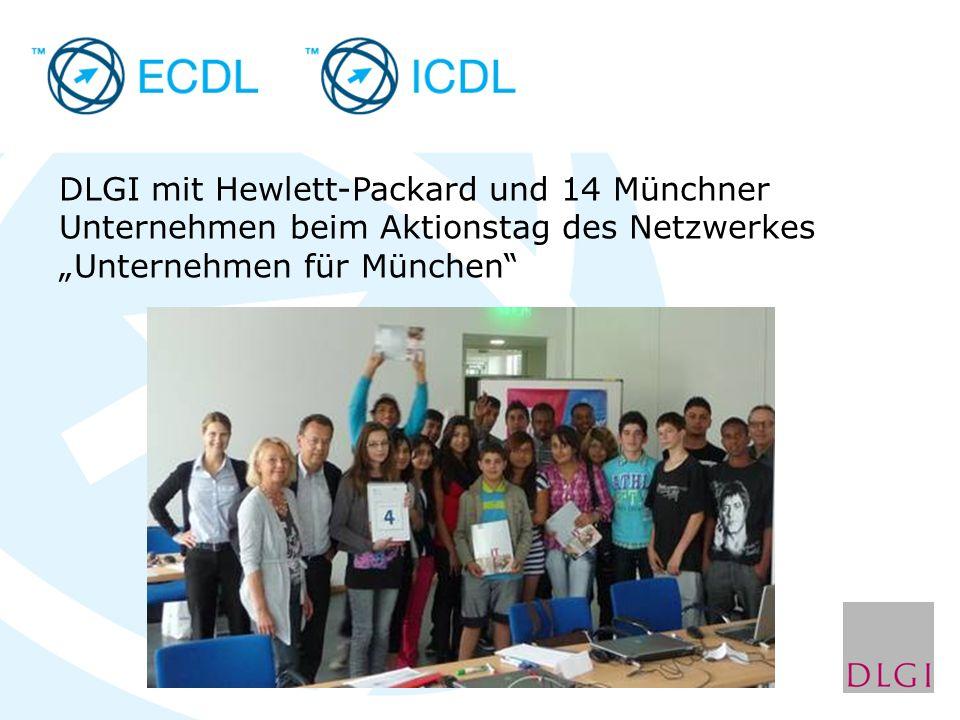 """DLGI mit Hewlett-Packard und 14 Münchner Unternehmen beim Aktionstag des Netzwerkes """"Unternehmen für München"""