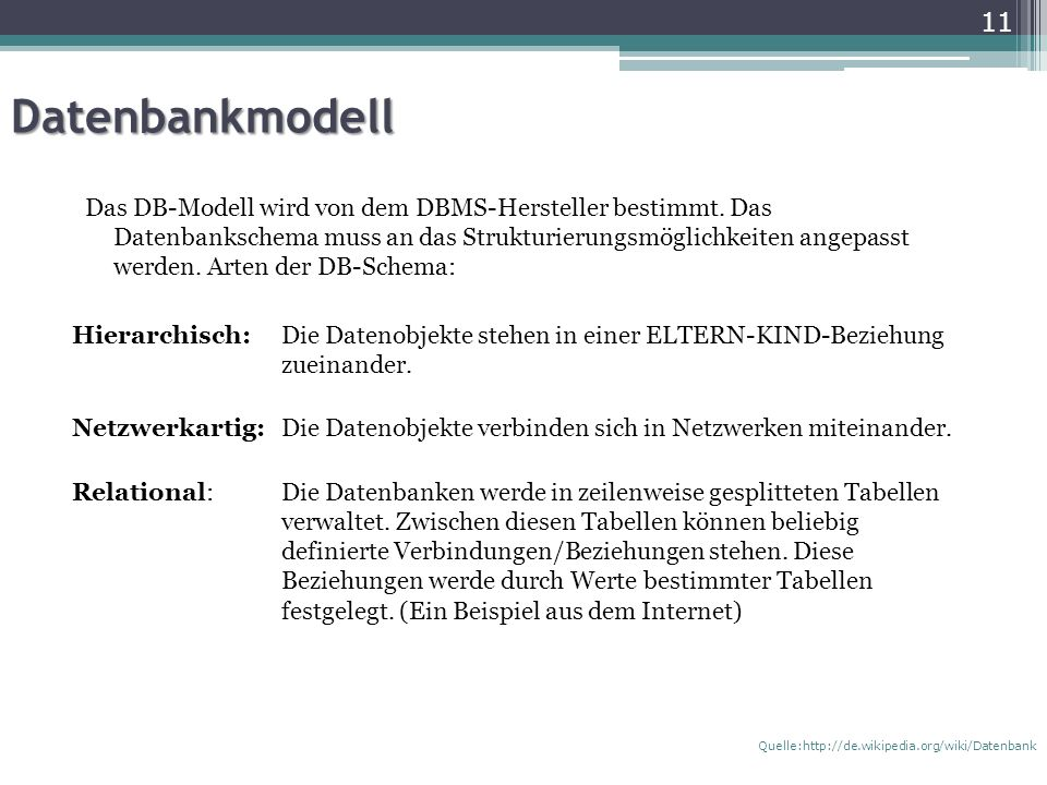 Datenbankmodell