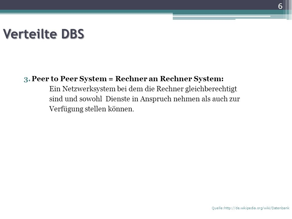 Verteilte DBS